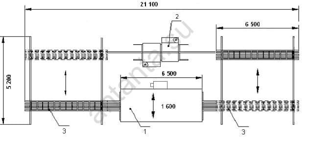 Размещение изделия внутри камеры полимеризации