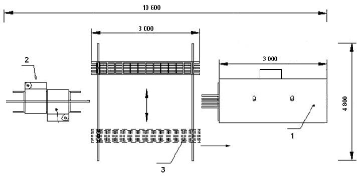 План - схема линейного участка для порошковой окраски.